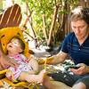 Father's Day at Geoff/LeAnn's<br /> <br /> Even Baby Harper can't distract Dad from the phoene!