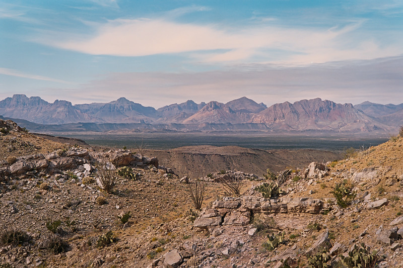 southside of the Chisos Mountains