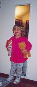 Kayla lighting up the room with a big smile.  September 1999