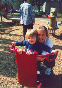 Kris and Kayla playing in Redmond's Marymoor Park.  May 1999