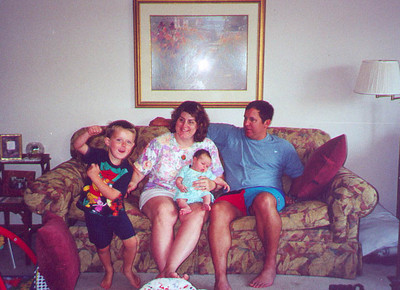 The Solems of Cottage Grove : Eric, Katie, Emily, and Joe.  Cottage Grove MN August 2000