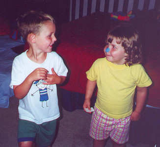 Hey cousin : what's with the blue nose?  Is that a west coast thing?  Cottage Grove MN August 2000