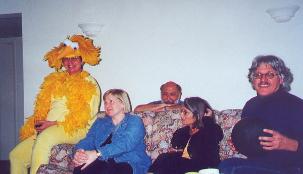 Big Bird came to visit this year, leaving many of us speechless.  Palo Alto CA October 2000