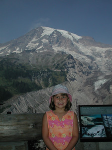 Kayla and Rainier in the background.