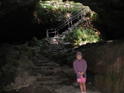 We visited the Ape Caves south of St. Helens, near Cougar.