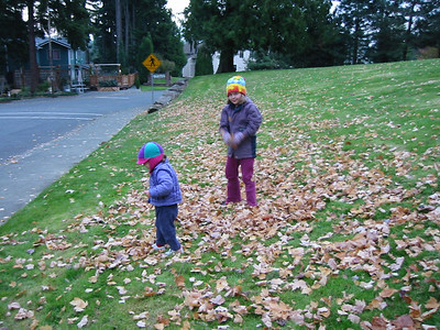 ... meanwhile back in Seattle, Kayla and Rachel were playing at the park around the corner.