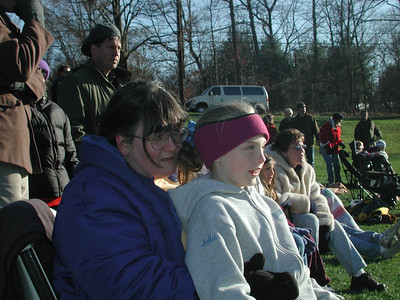 Cat and Julia watching from the sidelines.