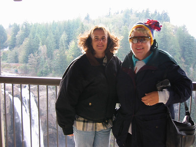 Kris and her mom at the falls.