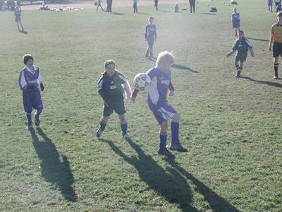 Settling the ball before dribbling.