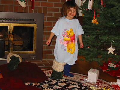 Rachel took the 'stocking' term to heart.