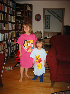 The girls both loved their sleep shirts.