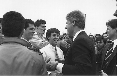 We met President Clinton and Vice President Gore when they visited the SGI campus in February of 1993