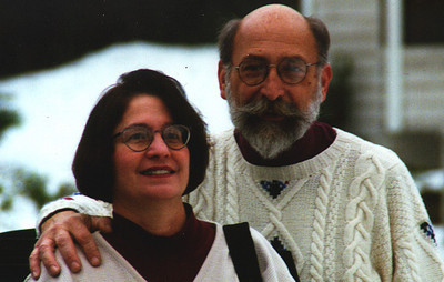 My mother and father after being freed from a our Christmas deep freeze.  Redmond WA December 1996