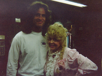 I met Donna Douglas - the actress who played Ellie May Clampett in the Beverly Hillbillies while on a camping trip in the Idaho panhandle.  near Sandpoint Idaho, August 1995