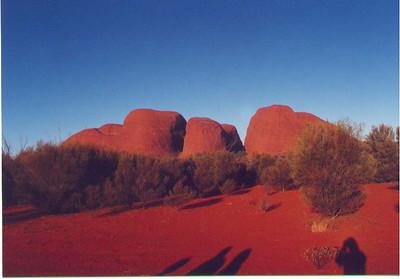The beautiful sandstone formations called Kata Tjuta. Uluru-Kata Tjuta National Park, Northern Territory Australia, April 1996