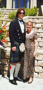 My friend Hal honored me by asking me to be in his wedding. Traditional Scottish that is.  Saratoga CA June 1996