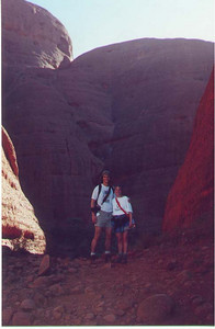 In Kata Tjuta's Valley of the Winds. Uluru-Kata Tjuta National Park, Northern Territory Australia, April 1996