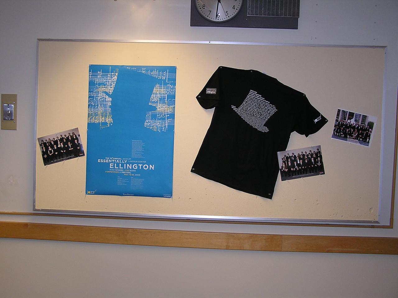 Essentially Ellington Jazz Festival memorabilia.  Blue poster and black tee-shirt.