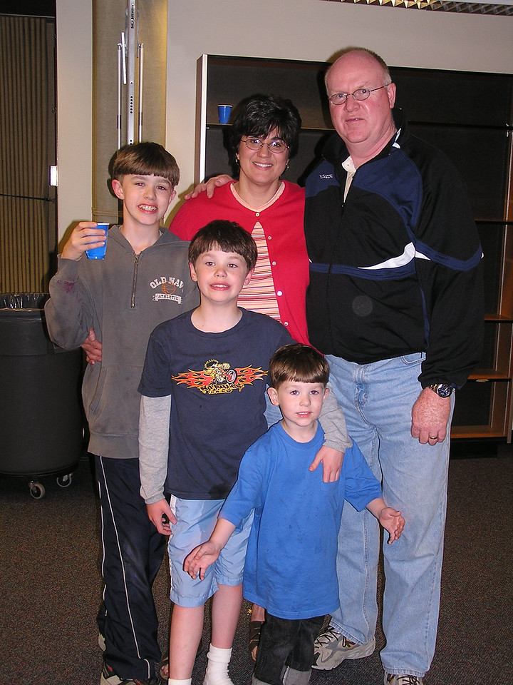 Jim and Sherry Simmons and sons (L to R) Derek, Corey and Riley.