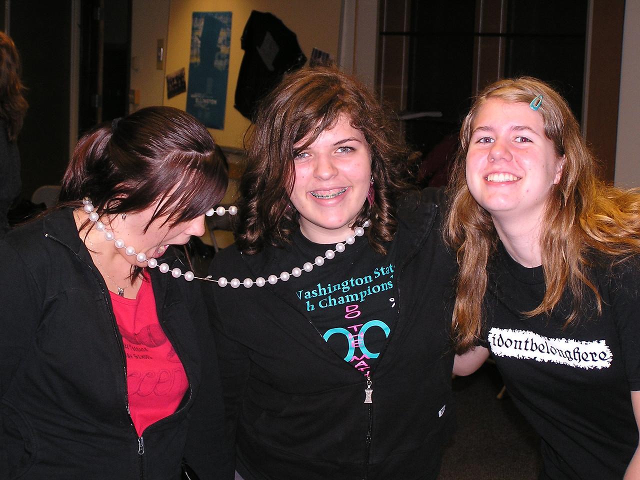Kevin's friends from band.  (L to R)  Morgan, Marina, Shauna.