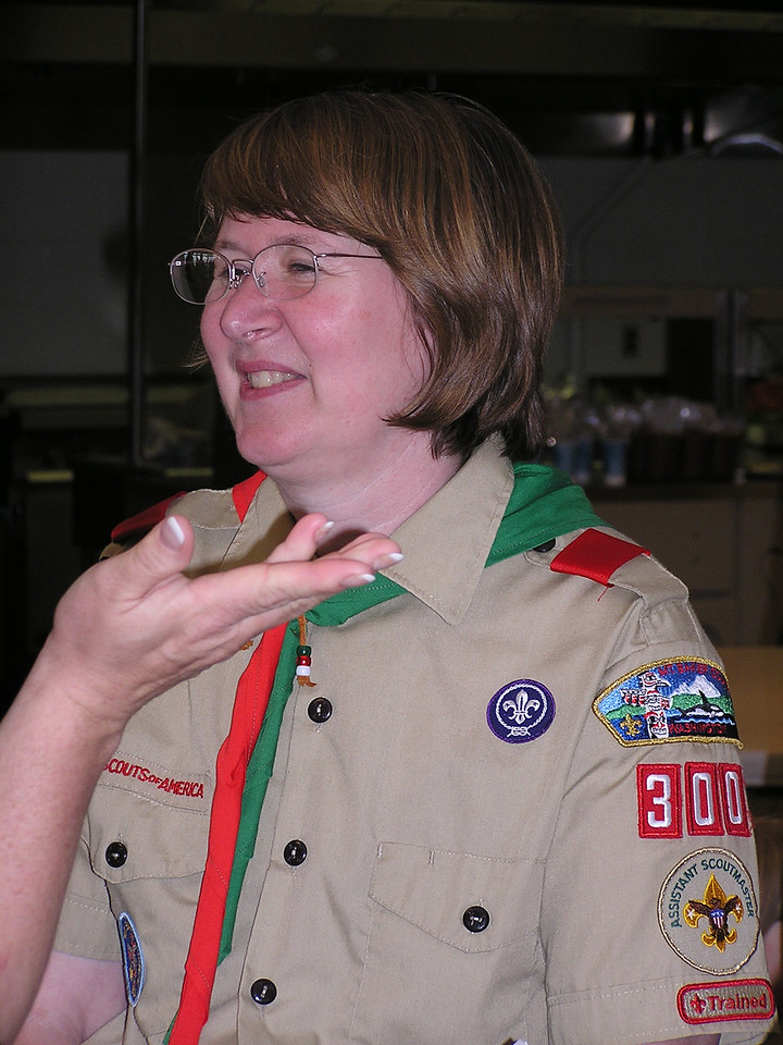 Mary is assistant Scoutmaster for our local Troop 300.