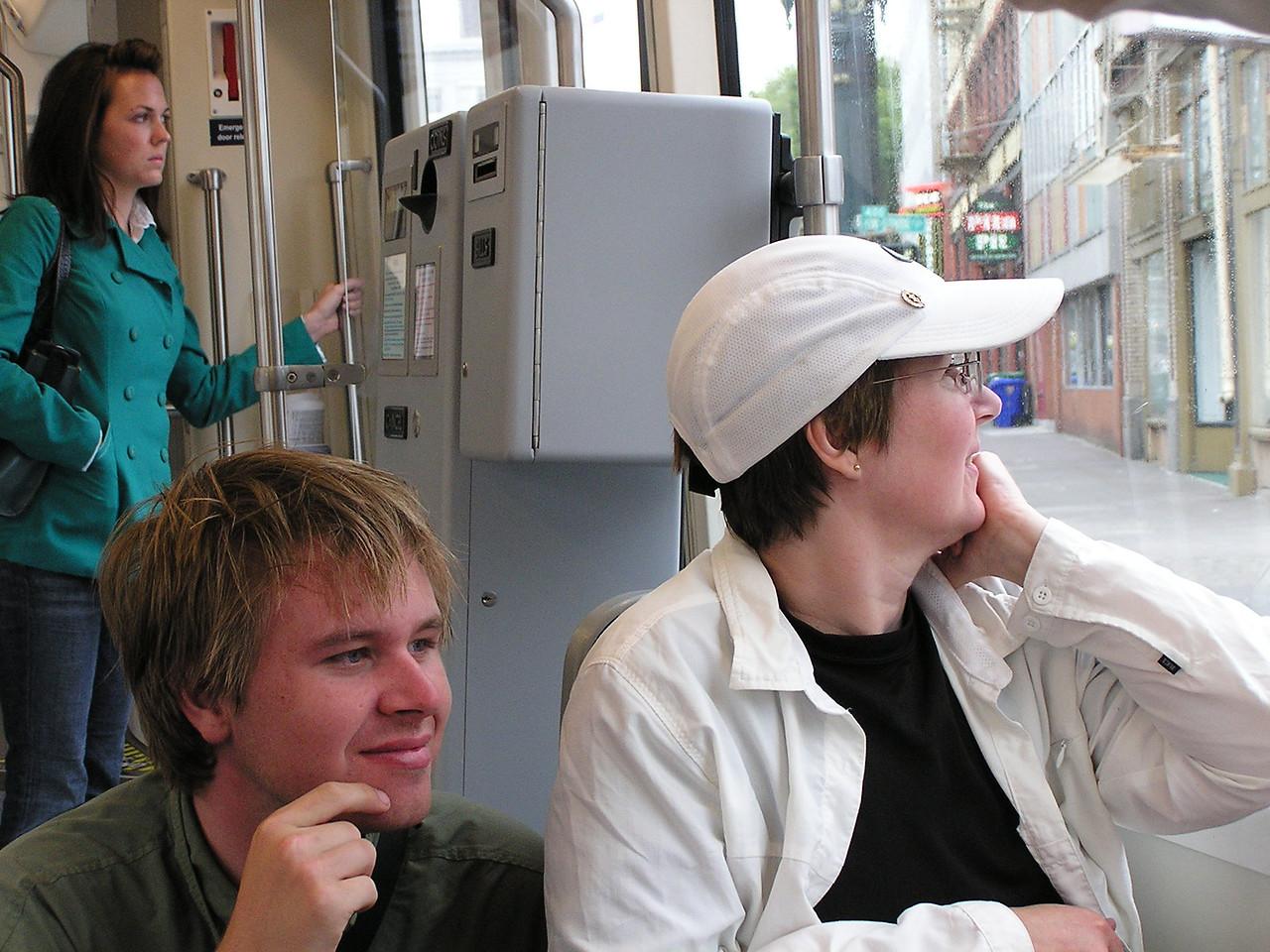 ... Nathan & Mary on streetcar ...