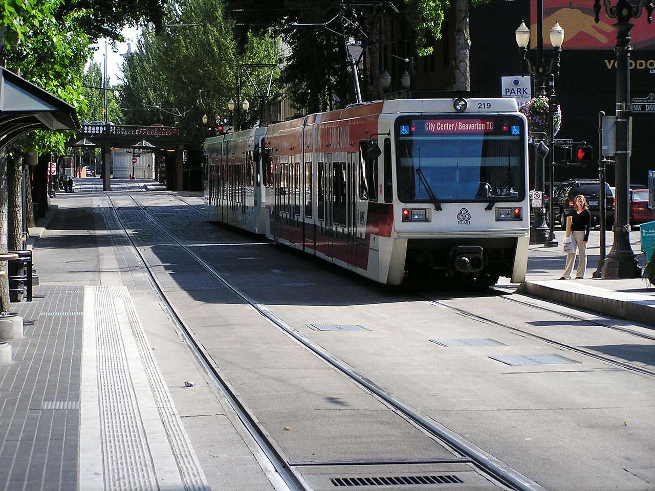 We took the light rail commuter train to our hotel from the train station in Portland.