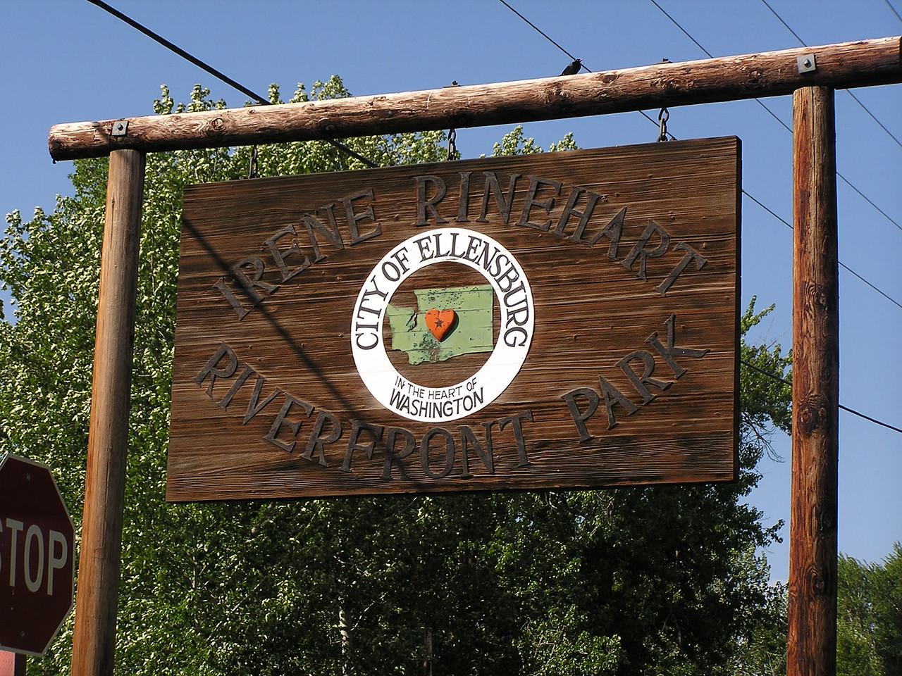 Ellensburg Riverfront Park on the Yakima River.