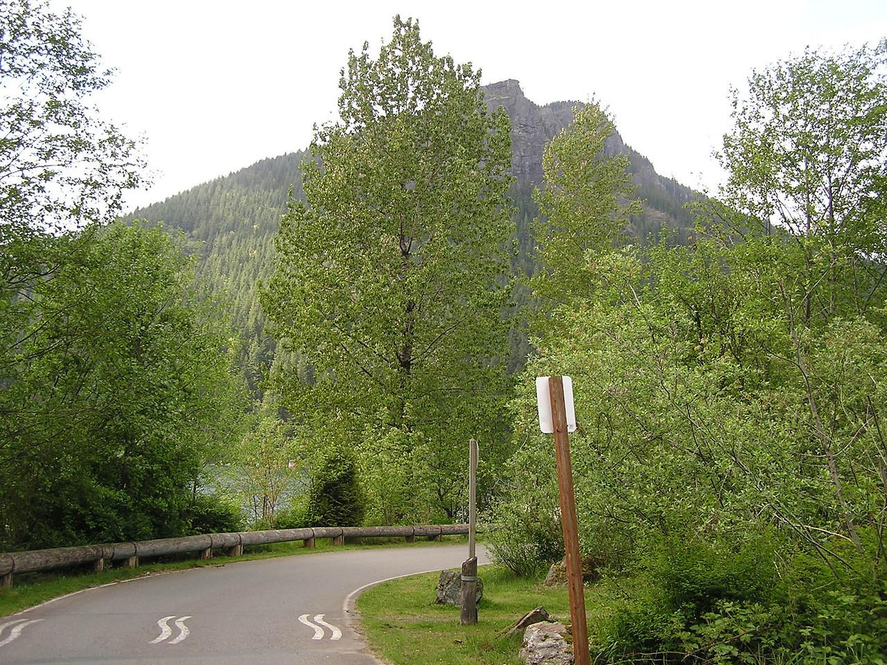 The mountain above Rattlesnake Lake.