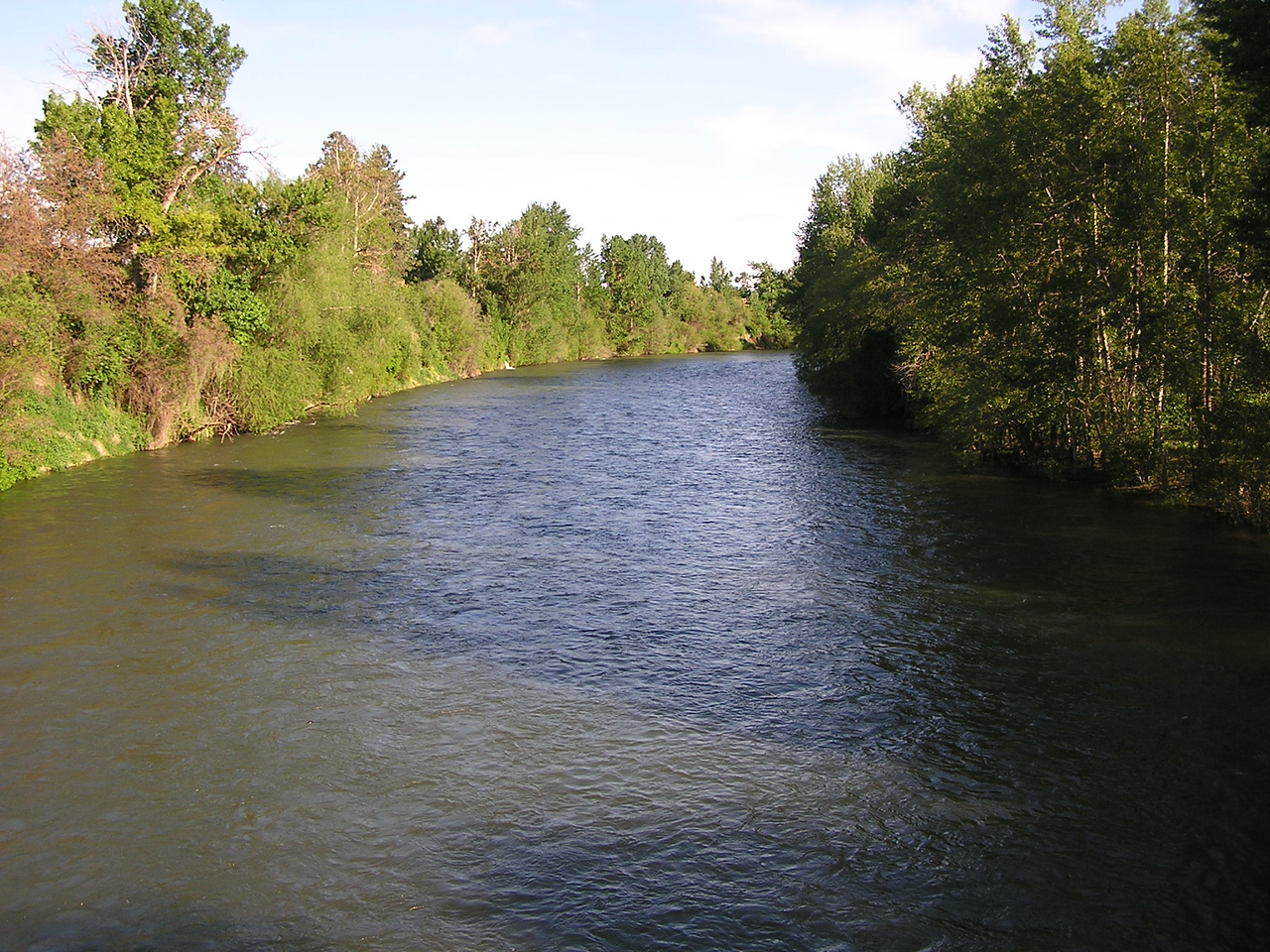 Yakima River from the bridge at Riverfront park.