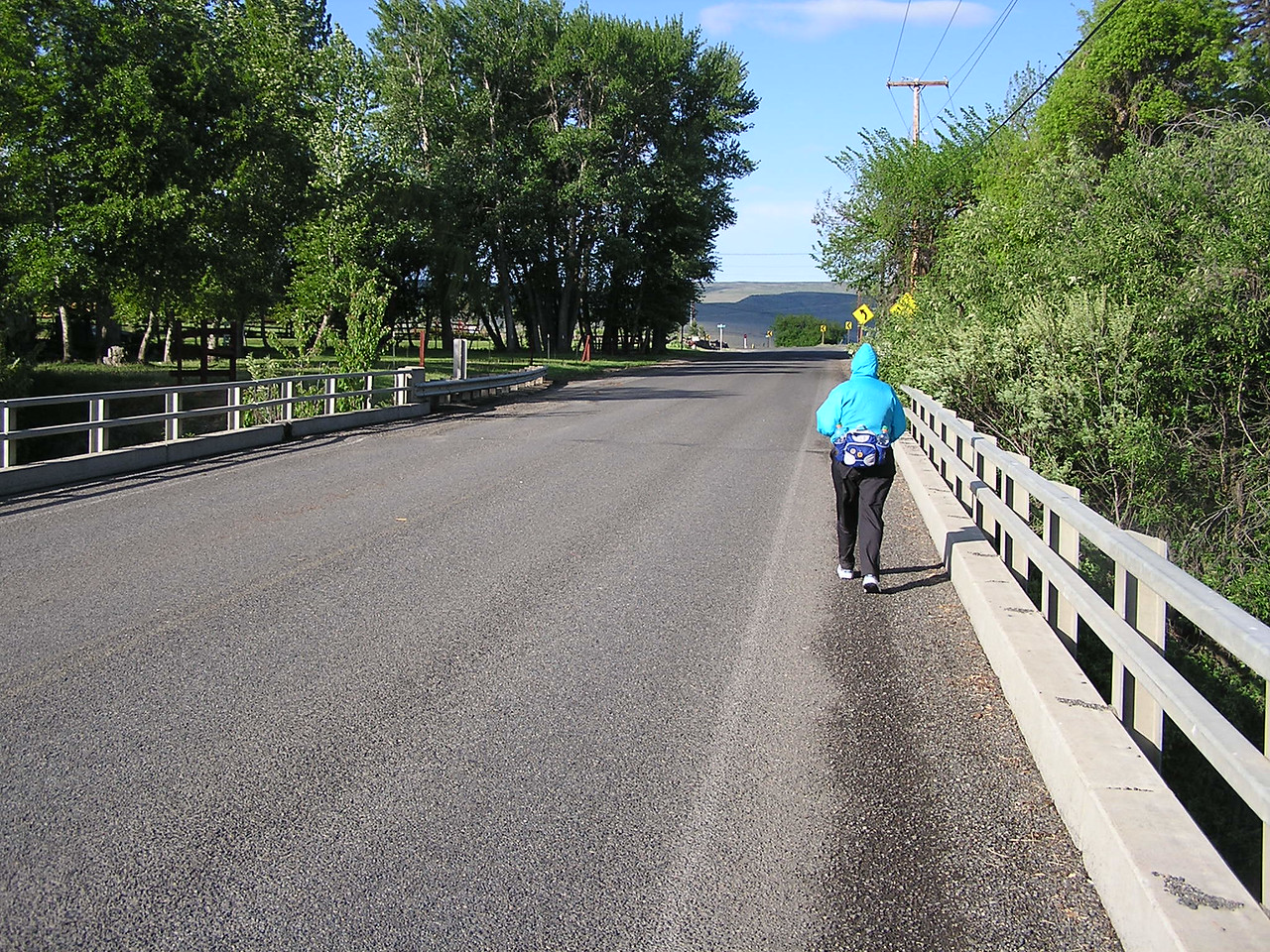 The bridge over the Yakima River.