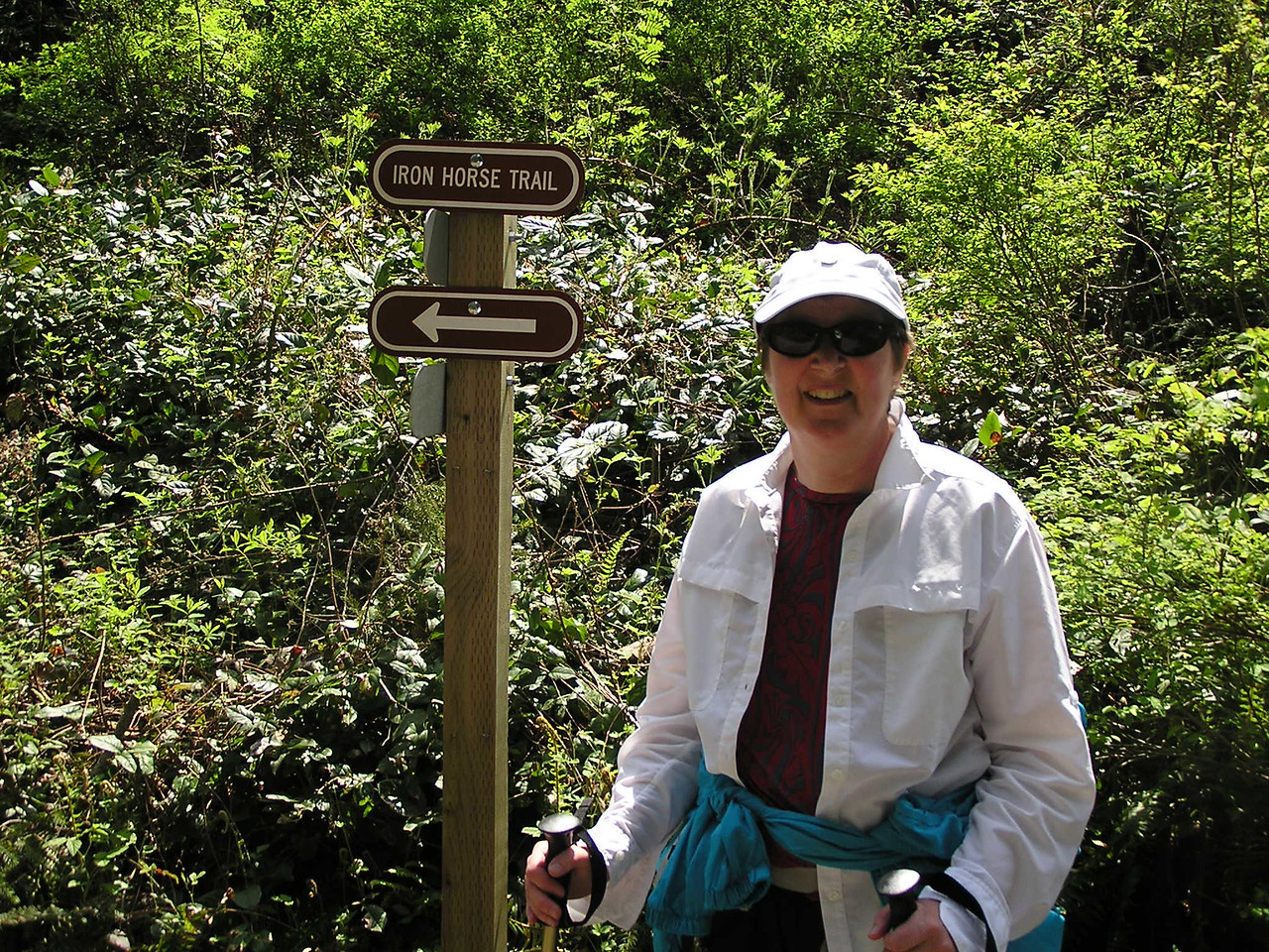 And the trail is named ... Iron Horse Trail.  Mary.