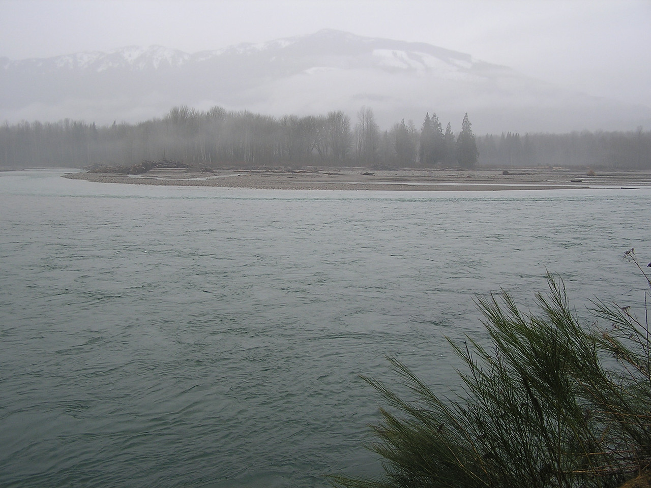 Looking across the Skagit River in a southeastern direction.