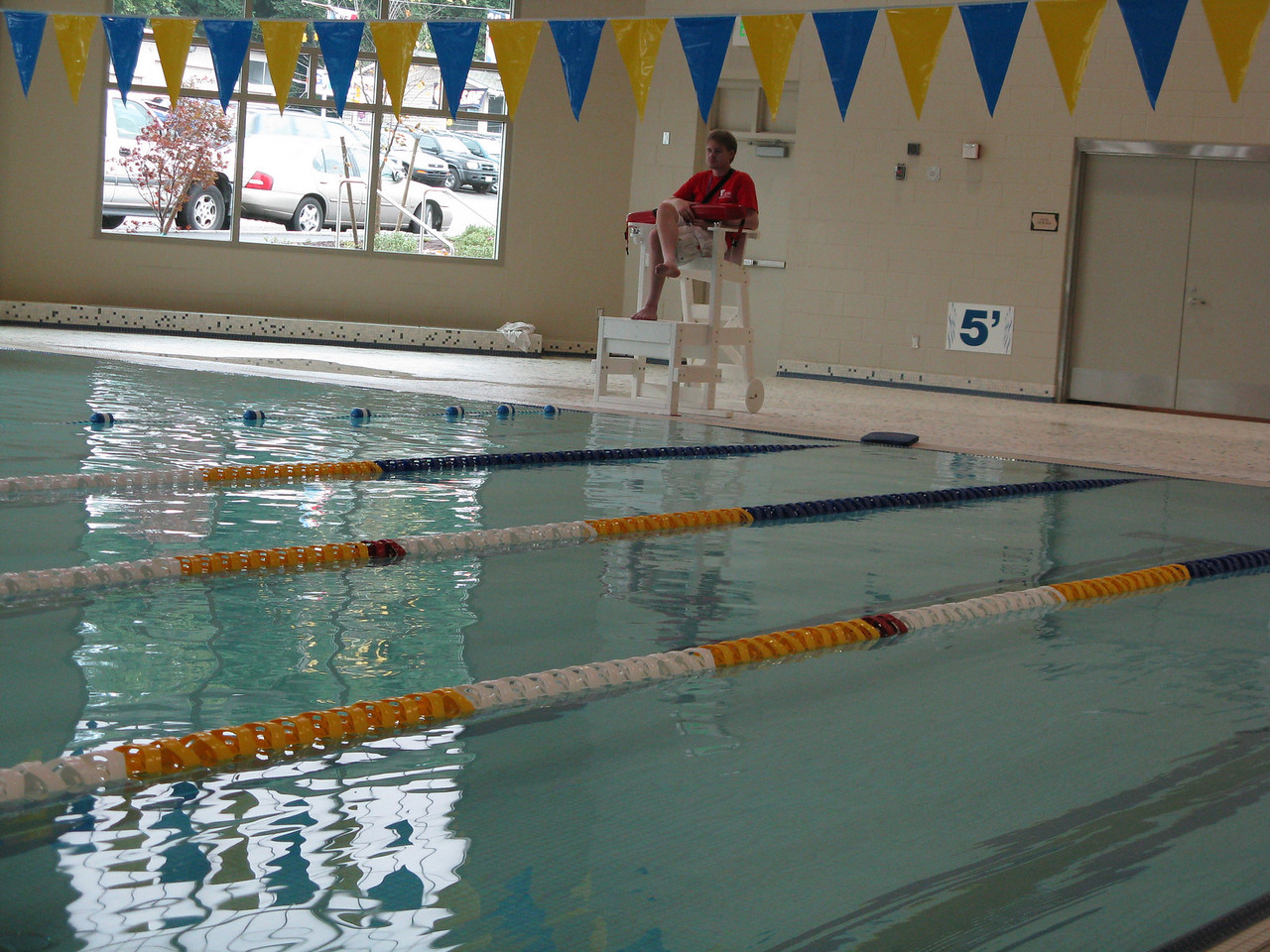 This is a brand new pool.  The YMCA opened on Oct 3, 2008.