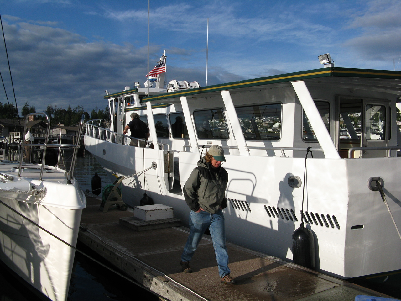 The Koinonia, our charter boat, after docking at its slip and unloading.