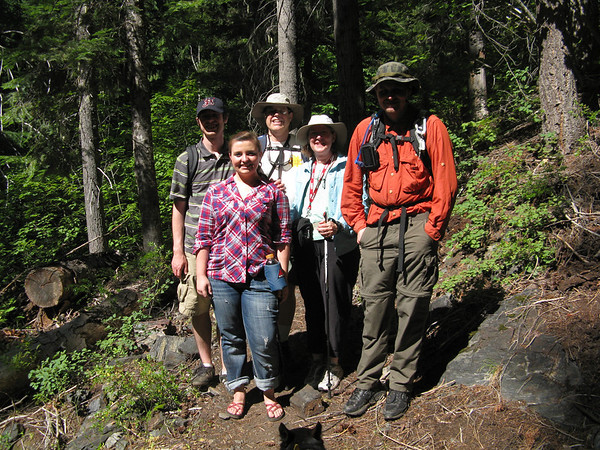 Chiwaukum Creek Trail, by Mary, Nathan, Kevin, Becca, and Martin; Aug 8, 2011