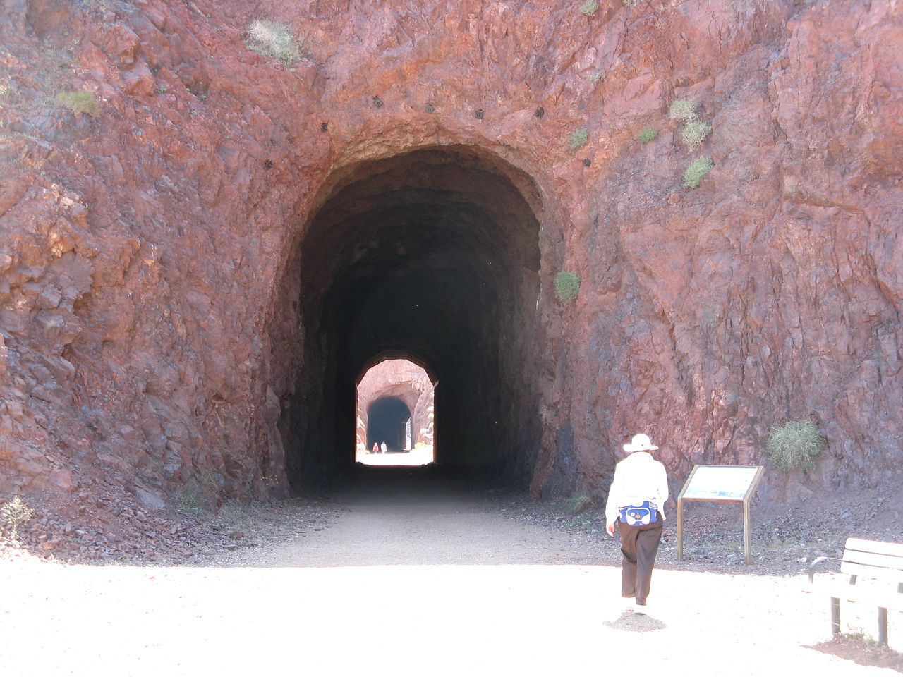 A closer view of tunnel #1 and just beyond is tunnel #2.