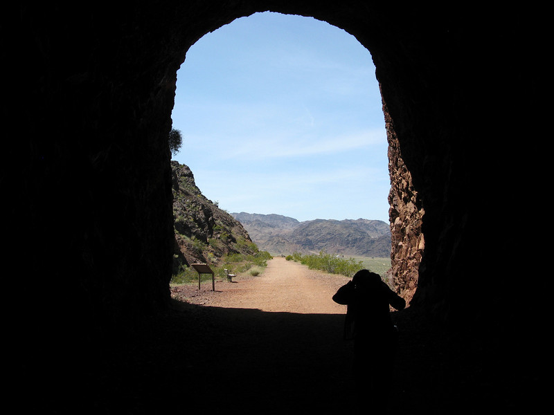 Exiting tunnel #1.