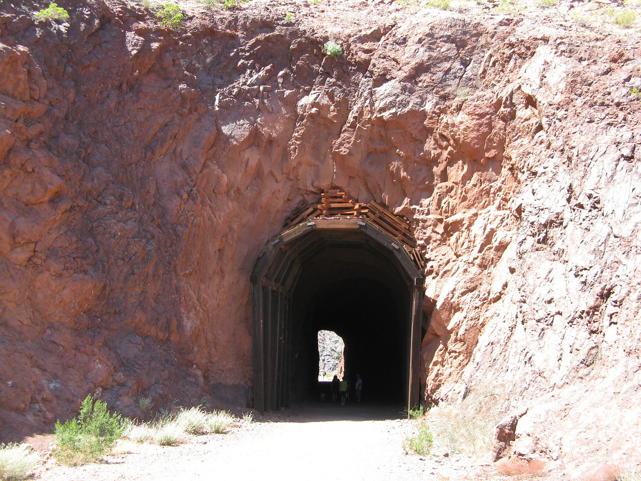 The downhill end of curved tunnel #2.