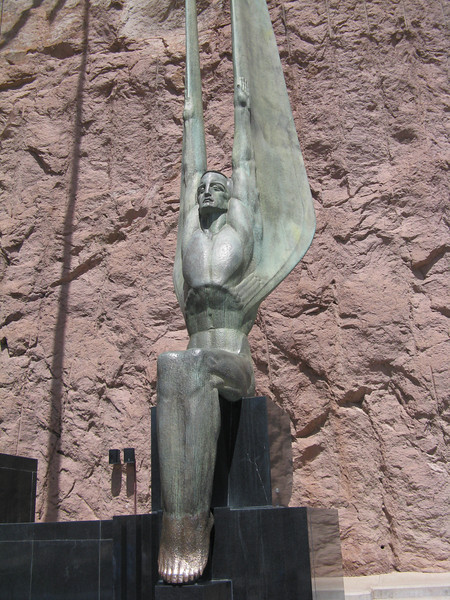 A monument to the many men who lost their lives in the construction of Hoover Dam.