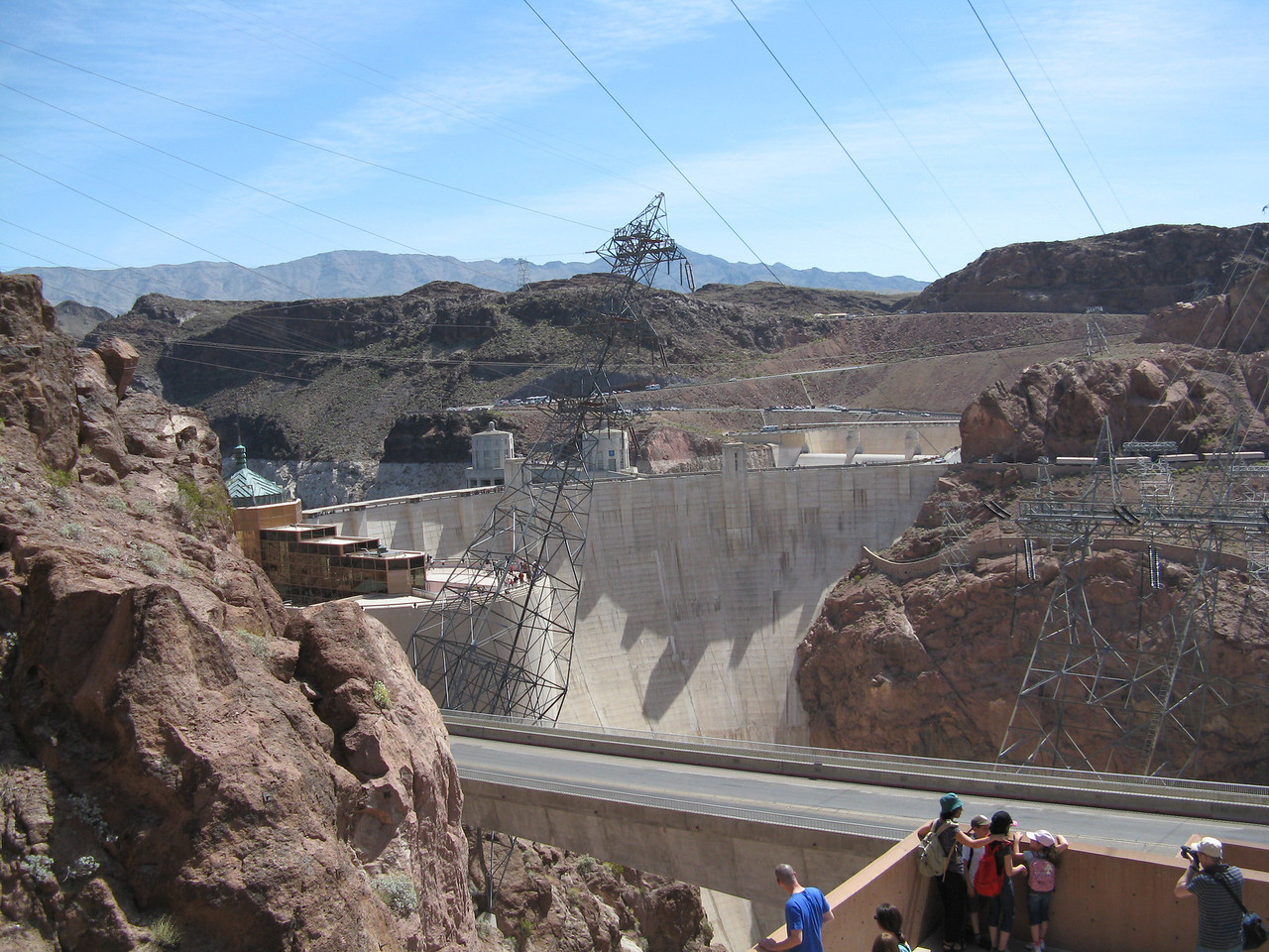 Hoover Dam, seen from the parking structure.
