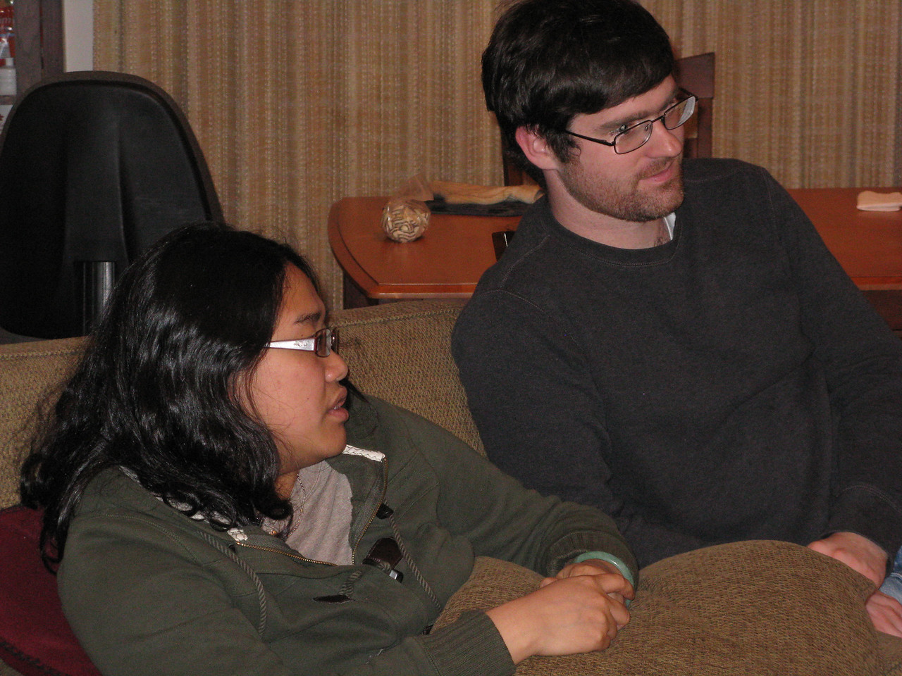 Christy and Robert.  Robert has a wide range of interests and knowledge, and conversations are a lot of fun.