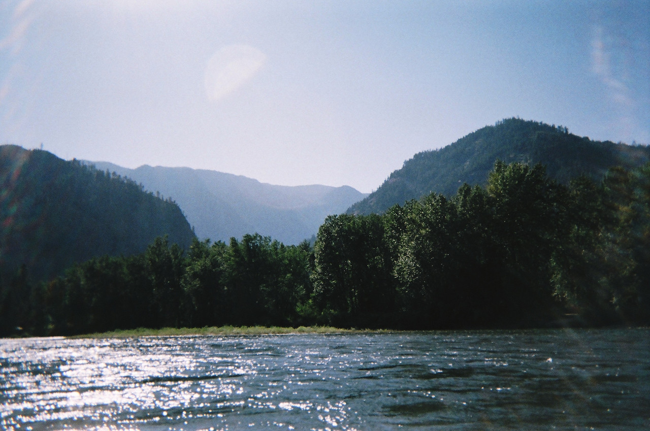 Looking west towards Tumwater Canyon, from which the Wenatchee RIver runs east towards Leavenworth, and, further downstream, it runs into the Columbia RIver.