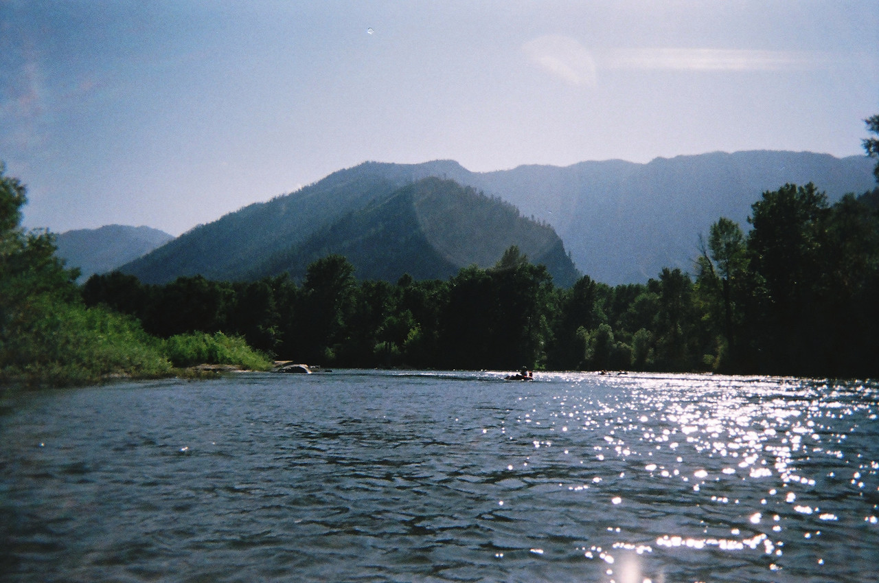 Looking back upstream on the Wenatchee.