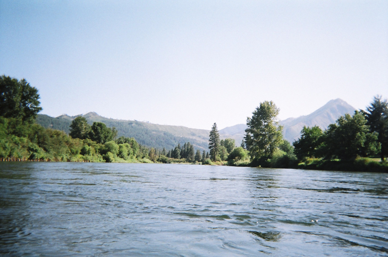 The Wenatchee River was broad and wide where the Icicle River merged into it.