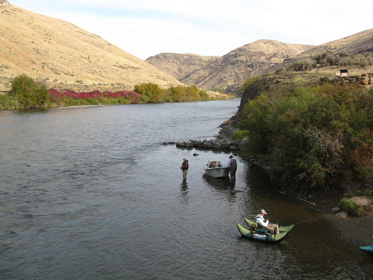 The Yakima River is a popular fishing stream.