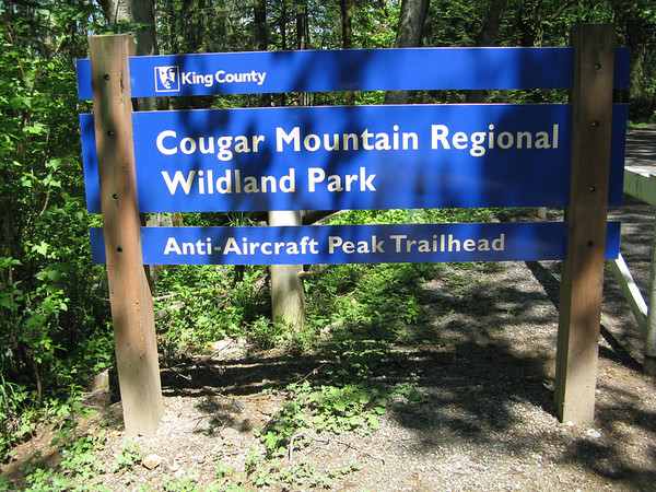 Anti-Aircraft Peak hike, Cougar Mountain Park, 26 May 2012