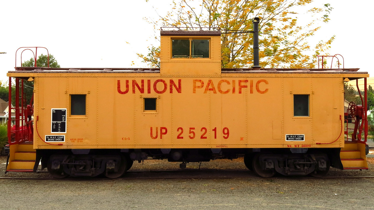 Cabooses are rarely used on trains in the 21st century in America.