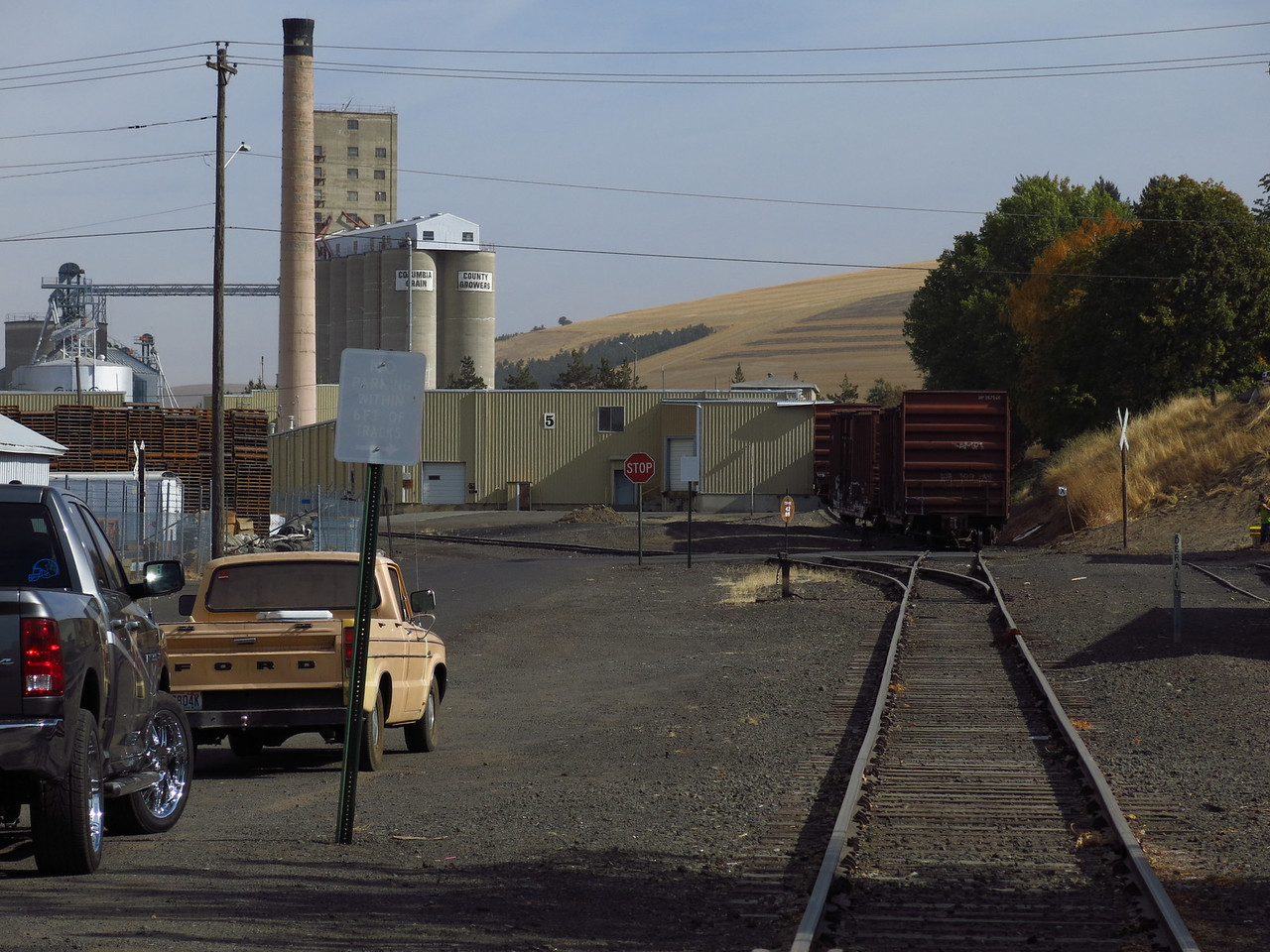 A view of the seed processing plant, which sits east of the depot in Dayton.