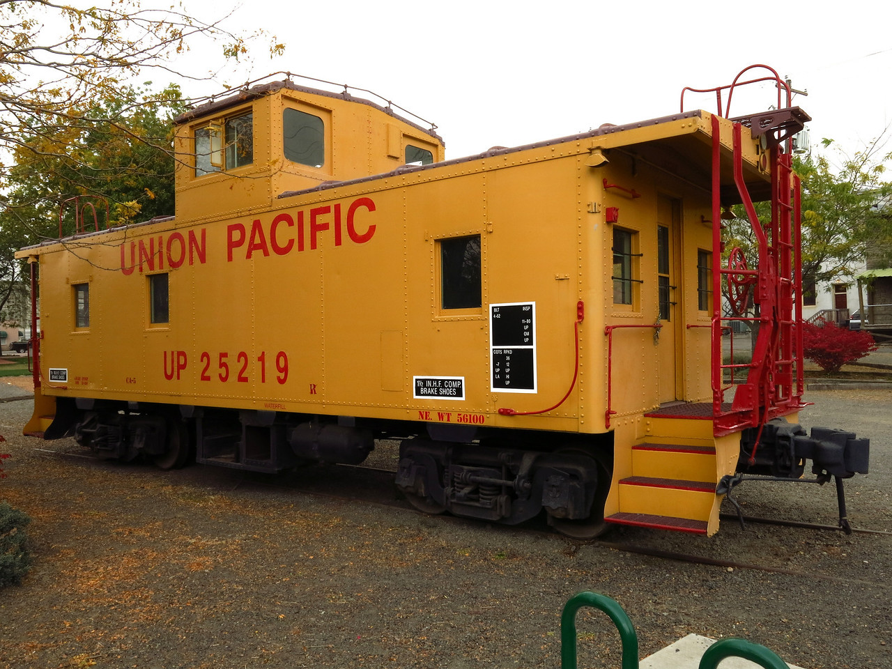 This Union Pacific caboose stands next to the Historic Dayton Depot.